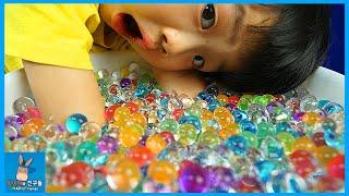 개구리알 1000개 키우기 도전하다! 신기하고 이쁜 12시간 타임랩스 촬영 ♡ 1000 Orbeez rainbow toy growing | 말이야와친구들 MariAndFriends