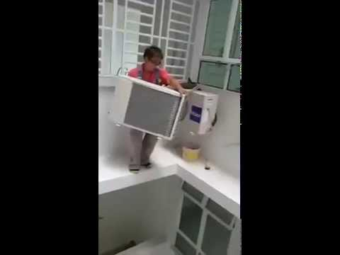 Scary and Toughest Job Aircon Building Technician