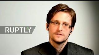 LIVE  Snowden speaks via video link at 'Democracy Under Surveillance' event in Williamsburg
