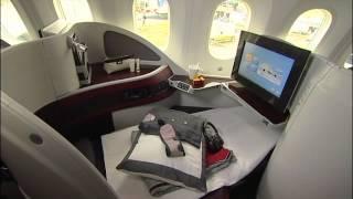 Qatar Airways Introduces Boeing 787 Dreamliner at Farnborough Airshow 2012