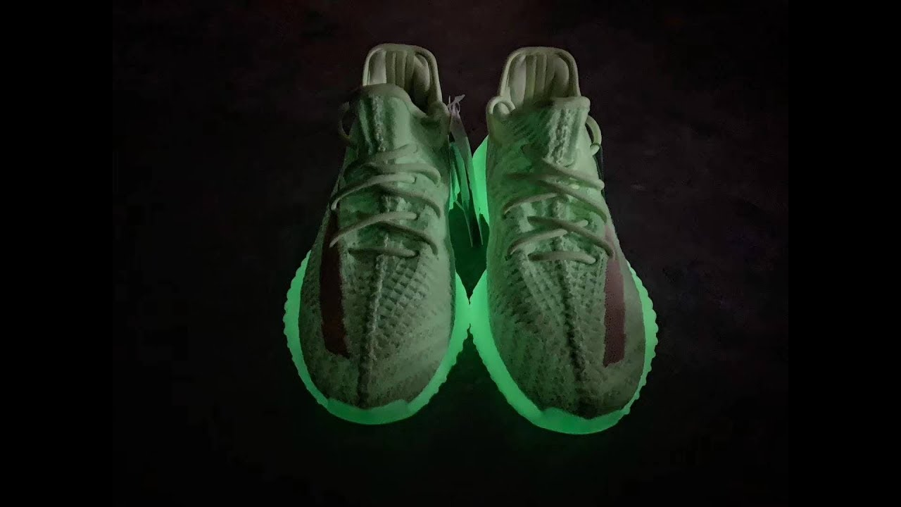 1f04e9ee7 First Look Yeezy Boost 350 v2 Glow in the Dark Neon Green - YouTube