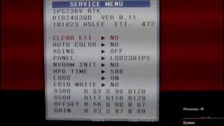 How to access service menu on LG monitors