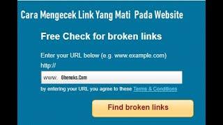 Cara Mengecek Link Yang Mati  Broken Link Pada Website