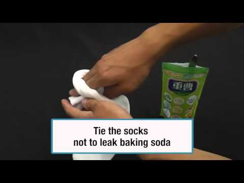 How to freshen smelly shoes with baking soda