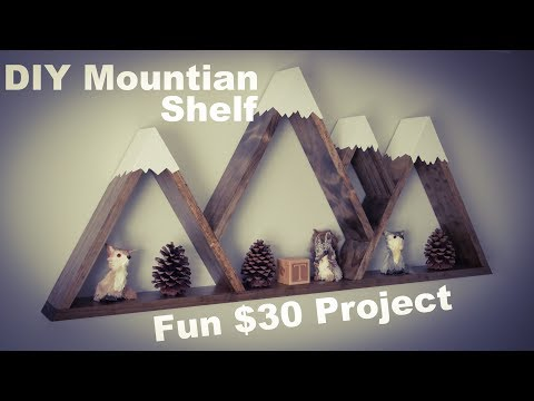 DIY How To Make Mountain Shelf w/ Snow Caps Only $30!