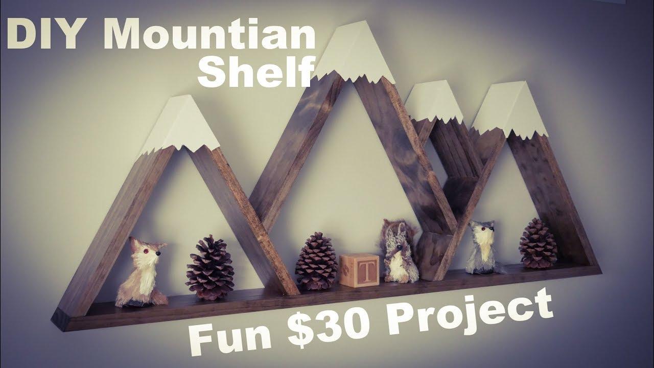 DIY How To Make Mountain Shelf w/ Snow Caps Only $20