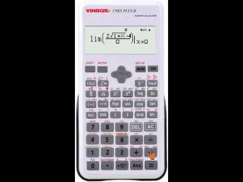 Vinacal 570ES Plus II - Tìm giới hạn Lim