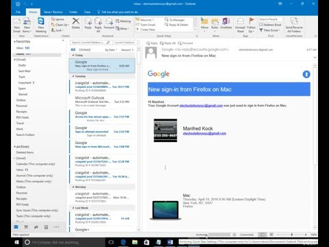 How to archive emails on Outlook 2013 and 2016