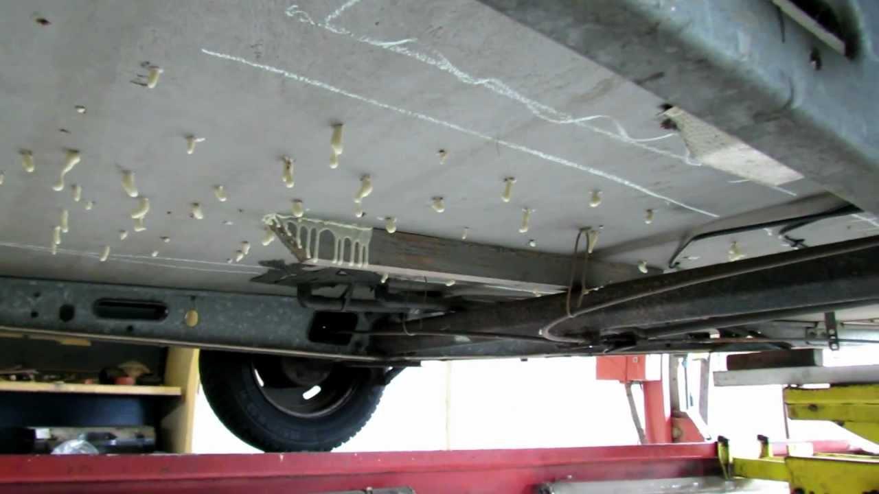 Houten Vloer Veert : Caravan vloer injecteren met permapur zwevende caravan vloer