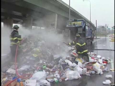 Flaming trash closes roads in Newport  [Delaware Online News Video]