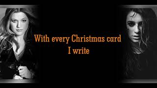 Lea Michele And Kelly Clarkson - White Christmas (LYRICS)