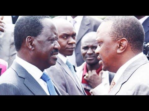 President Uhuru and Raila Odinga meet at Harambee House