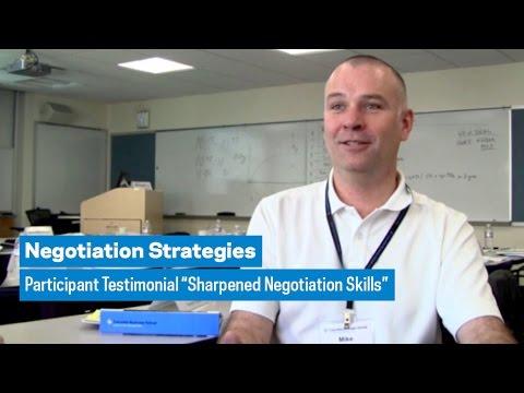 "Negotiation Strategies: Participant Testimonial ""Sharpened Negotiation Skills"""