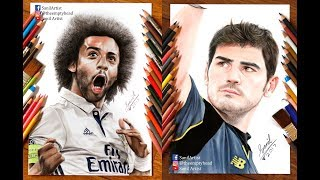 Compilation of some of my Real Madrid players drawing of 2017