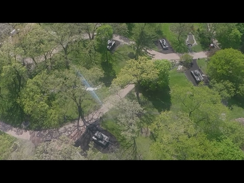 "GoPro Karma Drone Footage of ""Tank Park"" at Cantigny First Division Museum Part 2"