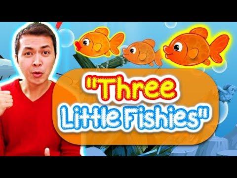 Three Little Fishies(Energizer W/ Actions)| Preschool Songs | ESL Kinder Kids Songs & Nursery Rhymes