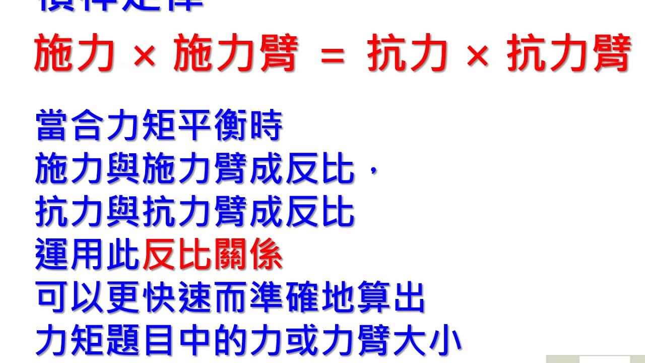 國三理化第五冊槓桿原理 - YouTube