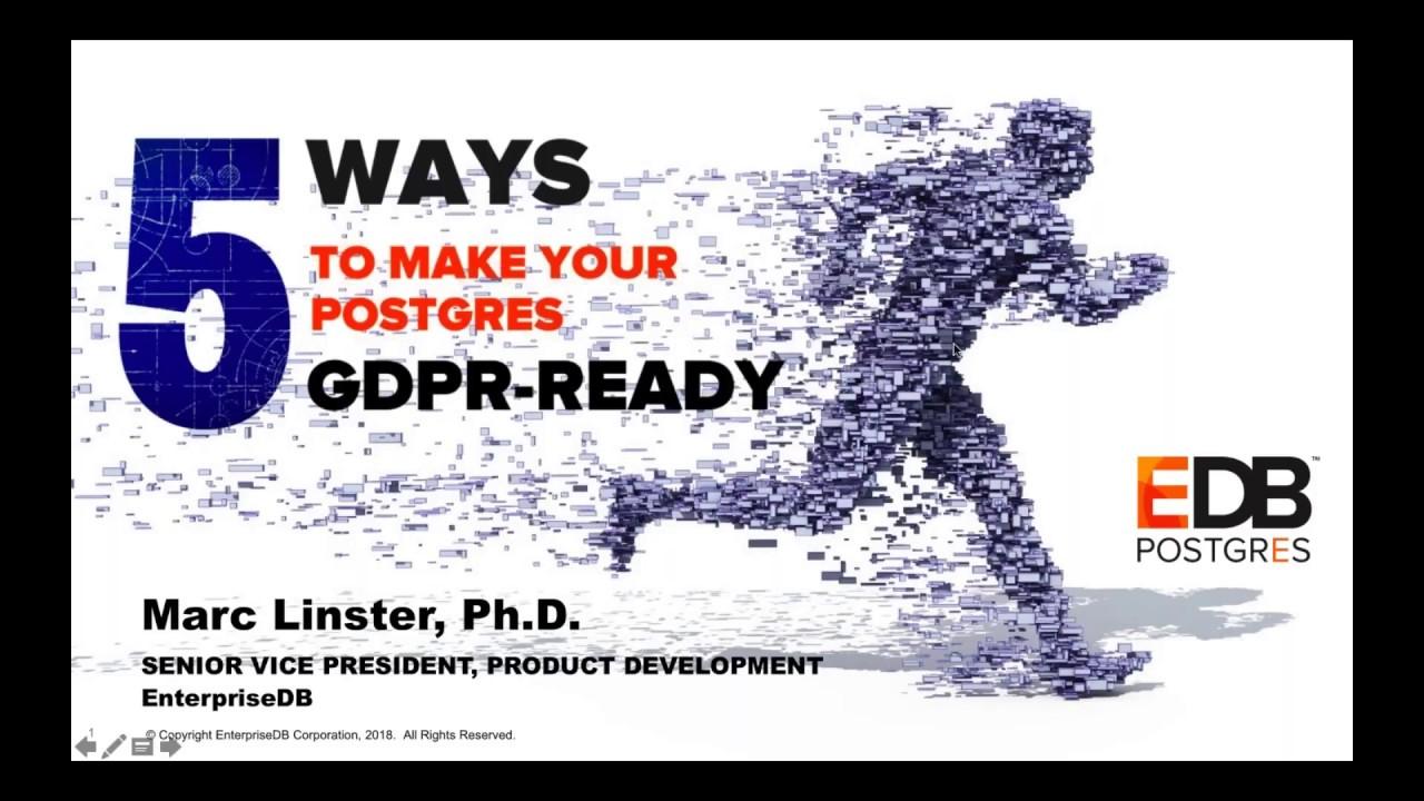 5 Ways to Make Your Postgres GDPR ready
