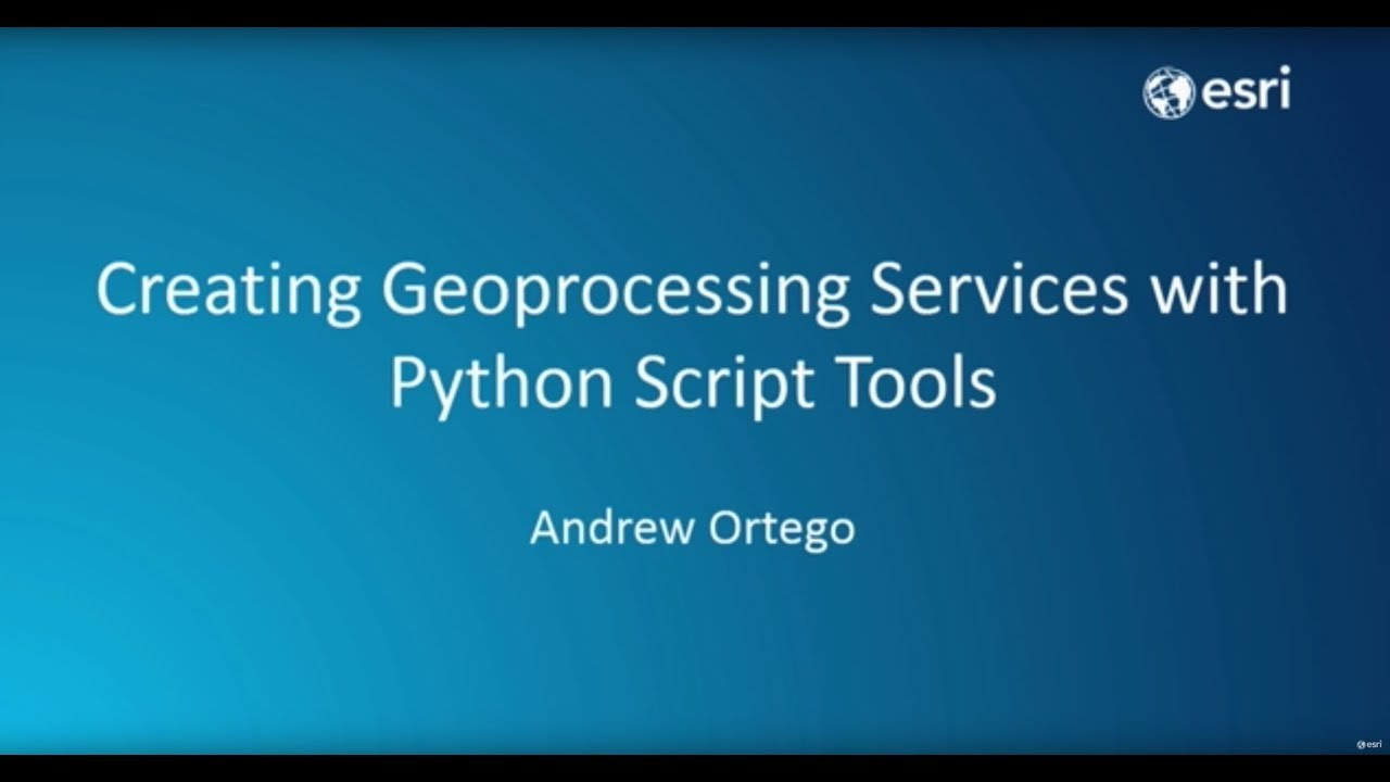 Creating Geoprocessing Services with Python Script Tools