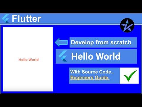 Hello World in Flutter - Flutter Tutorial
