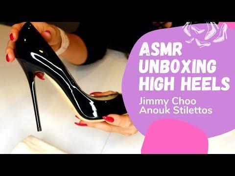 Unboxing High Heels Jimmy Choo Anouk 12cm Stiletto Pumps try on walking by Lady Kim