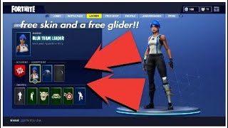 How to get the two free things in fortnite !! (New skin and glider)! [easy]!