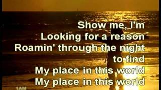 Place In this World by Michael W. Smith (Lyrics Integrated)