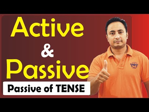 Active Voice and Passive Voice in English Grammar | Passive Voice of Tense Sentences I Learn English