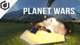 Space Engineers | PLANET WARS - EP 17 | Saving Friends