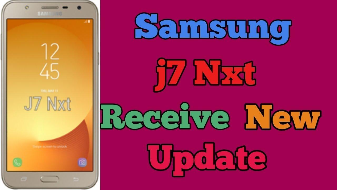 Samsung Galaxy j7 Nxt receive New update in india