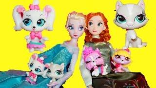 Queen Elsa LPS Getting Glamorous Pet Styling Pack Disney Frozen Littlest Pet Shop Popular Toy Video