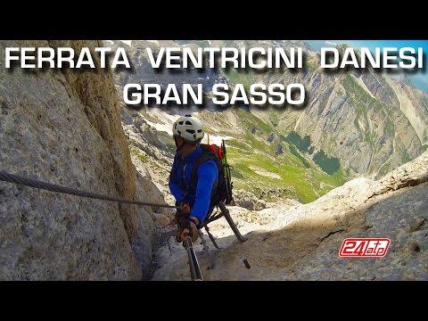 Ferrata Ventricini Danesi Vetta Corno Piccolo 2655.m Prati di Tivo Gran Sasso d'Abruzzo Gopro Italy