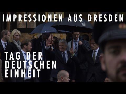 Tag der deutschen Einheit - Angela Merkel, Joachim Gauck und andere Politiker in Dresden