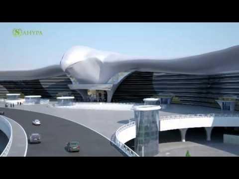 New Ashgabat Airport At The Turkmenistan.flv