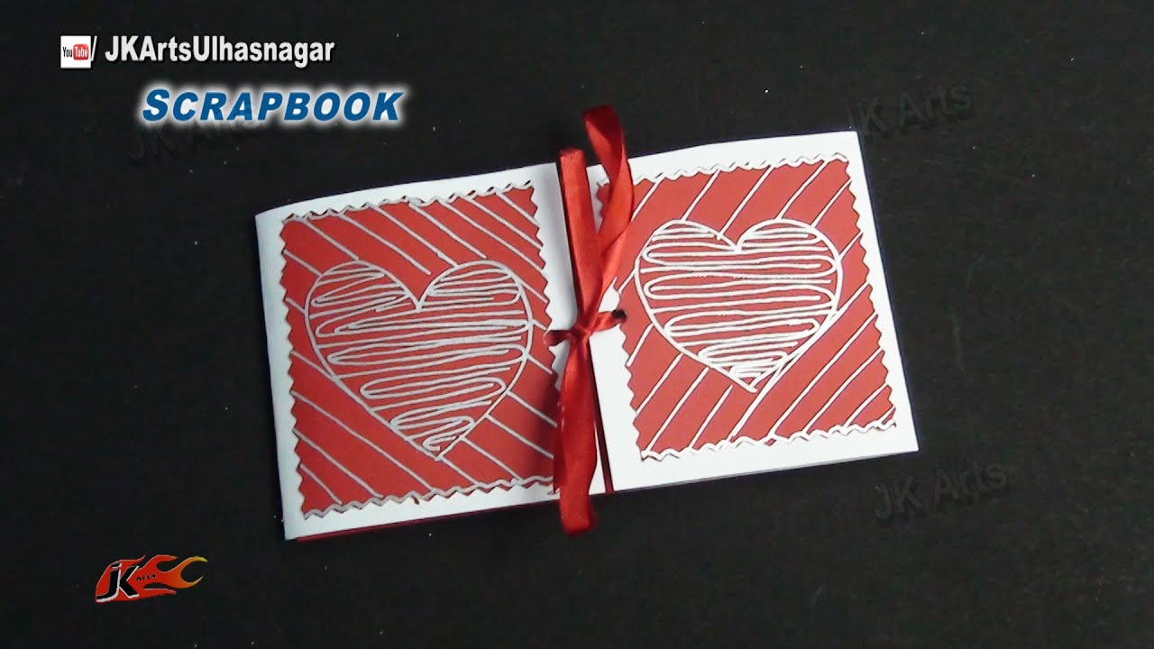 How to scrapbook greeting cards - Easy Scrapbook Greeting Card Tutorial Valentine S Day Jk Arts 863