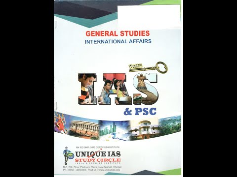 International Affairs – Unique IAS Study Circle, IAS