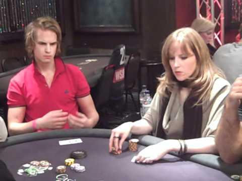 Viktor Blom aka Isildur1 bluffs a bluffer on Day 1 of WSOPE 2010