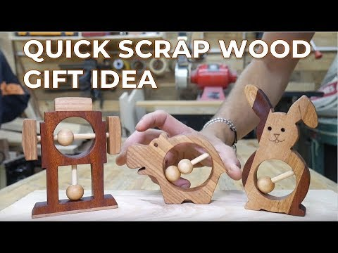Scrap Wood Gift Idea - Brothers Make Quick Rattle Project