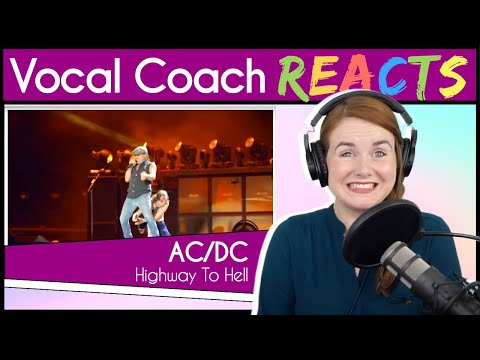 Vocal Coach reacts to ACDC - Highway to Hell (Brian Johnson Live)
