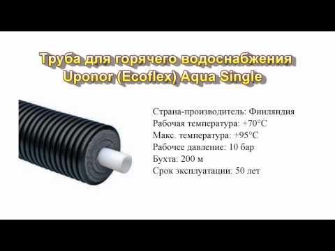 Трубы Uponor Ecoflex Aqua Single