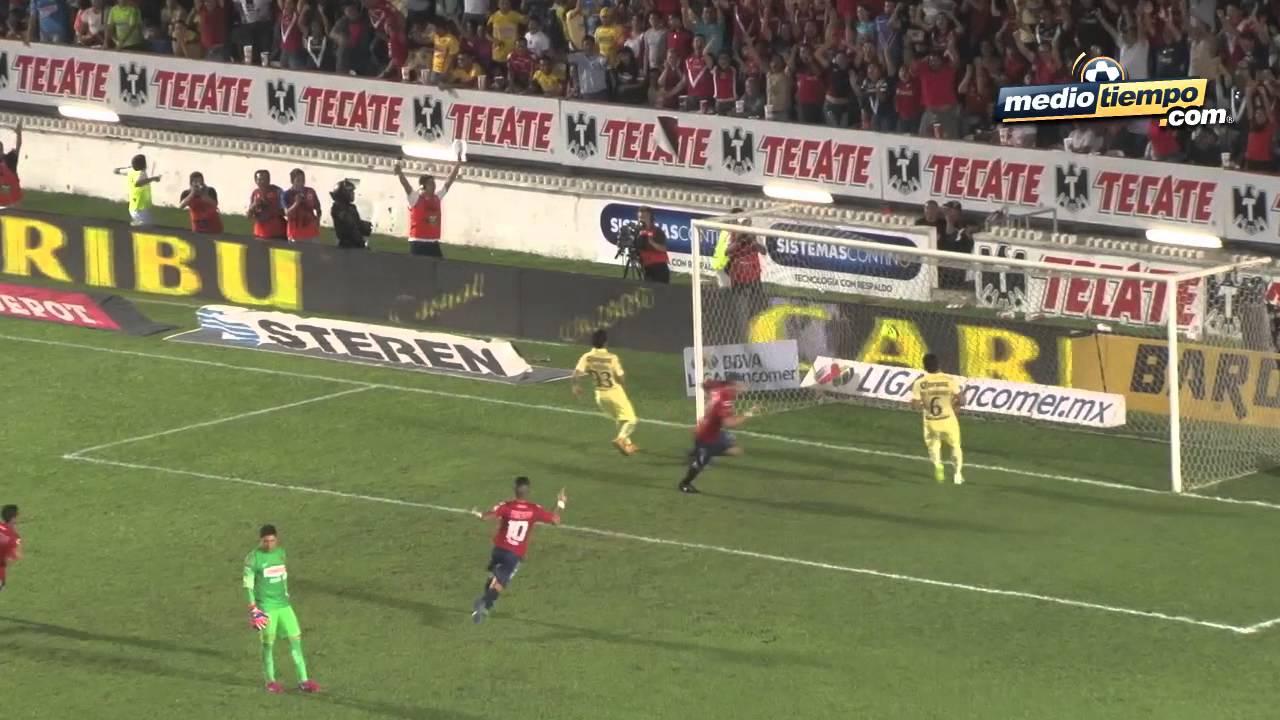 Los Goles Del Veracruz Vs América 4 0 Youtube