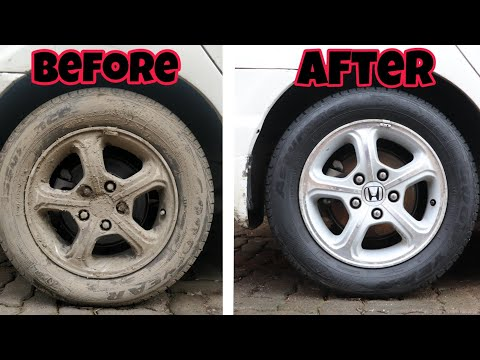 Wheels and tyres Restoration (Cleaning) | Honda Civic!!!