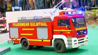 RC FIRE RESCUE OPERATION, RC FIRE TRUCK ACTION! 12. Internationale Modellbau Messe Ried 2019