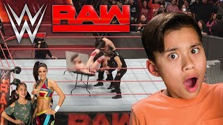 EVAN GETS BODY SLAMMED!!! WWE Super Challenge, Office Nerf War & Monday Night RAW! BTS
