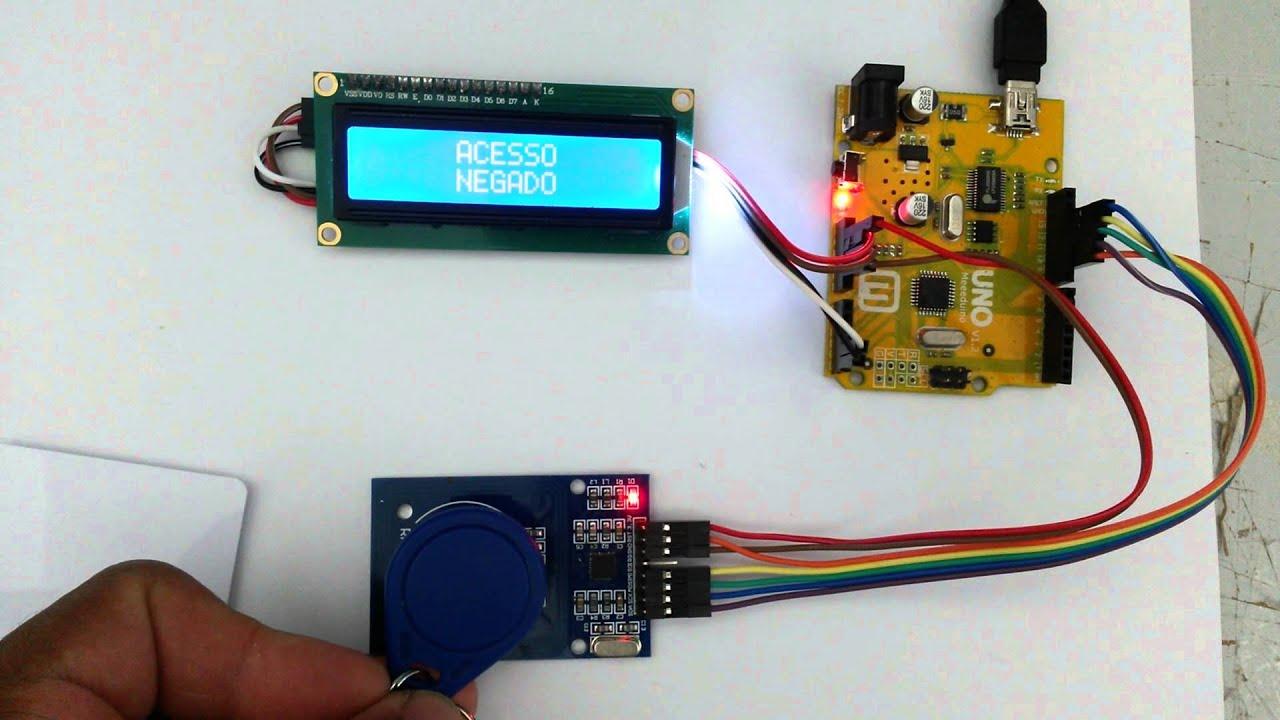 Rfid Mfrc522 I2c 16x2 Lcd Arduino Youtube