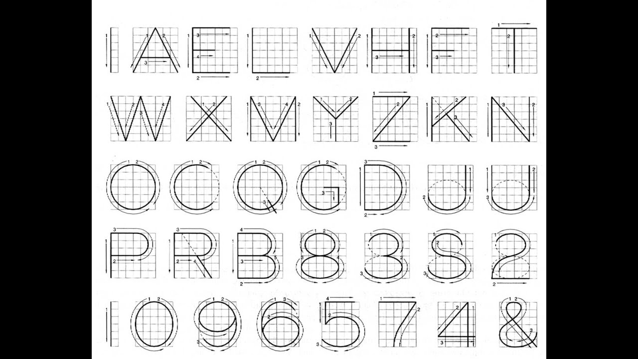 Drafting 101 ABC Lettering