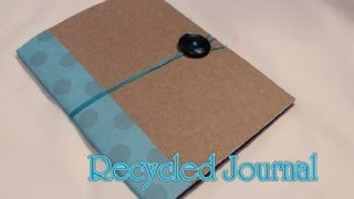 Recycled Journal How to DIY [Very EASY] - Whitney Sews