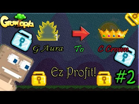 Growtopia  G Aura To Challenge Crown #2  Ez Profit! 😎