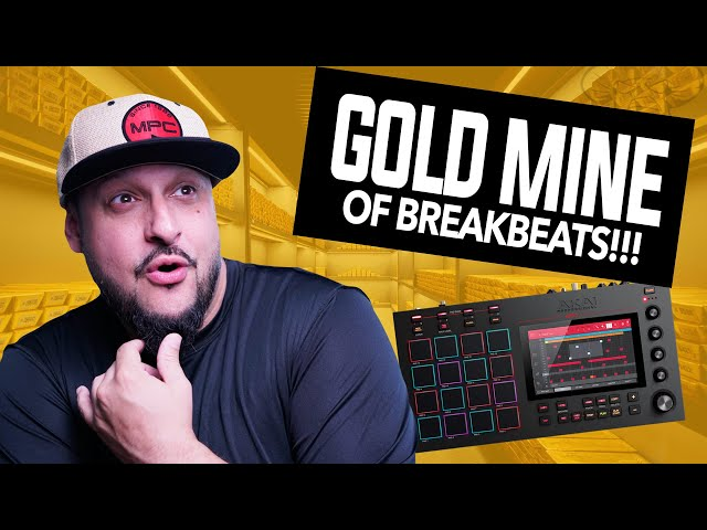MPC ONE/Live Sample Beatmaking with my new found BREAKBEAT PLUG! (These Drum Kits are SICK!)