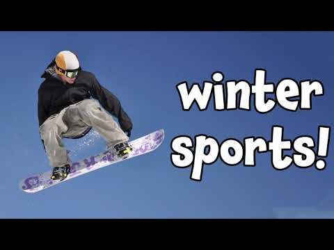 Winter Sports! Learning Names of Different Winter Sports Recreation Activities for Kids